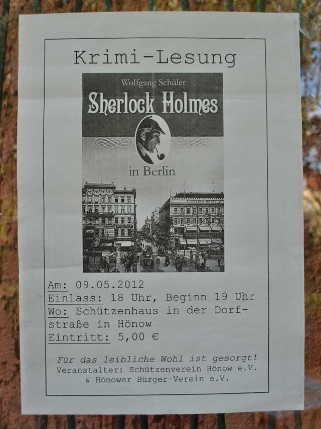 Weinlese Sherlock holmes Plakat